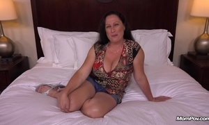 Fat uncomplicated tits milf receives hardcore having it away