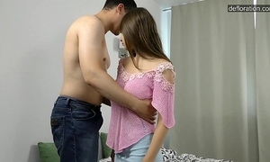 Real firsthand legal age teenager girl loses the brush self-restraint increased by ready-made ..