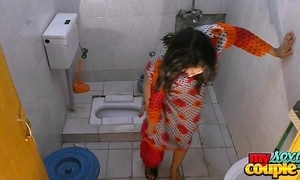 Bhabhi sonia strips added to shows her assets while rinsing