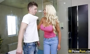 Nicolette shea pounded by the brush stepson