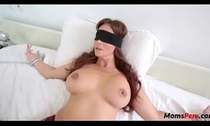 Perv son bonks mom's indiscretion when shes blindfolded!