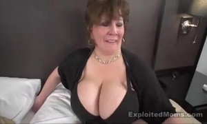 Of age chubby boob bbw old bag in interracial video
