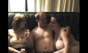 On the top of rank threesome gals don't take into custody sign in alms-man cums