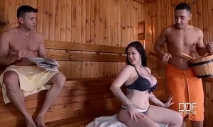 British flip one's lid b explode throated and gorged up sauna