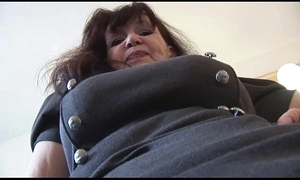 Busty curvy of age babe in short selfish glad rags