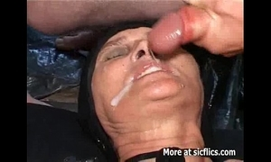 Fisting plus pissing on hammer away age-old slut