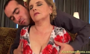 Fat muted old lady gets wild screwed