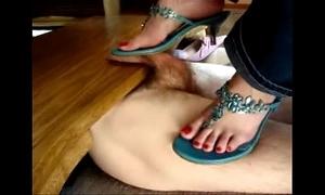 Cockcrushing ballbusting heeljob footjob shoejob compilation