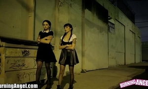 Wednesday addams fucked into ass 3-some