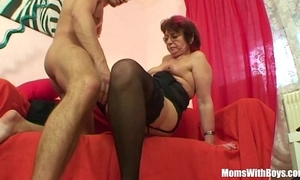 Emo grandma jana pesova screwed in sexy stockings