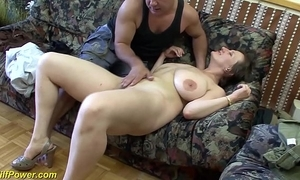 Busty german milf enjoys a broad there the beam dick there will not hear of pain in the neck
