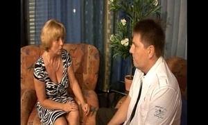 German old woman - son - mutti und sohn