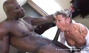 Superannuated granny takes a big baleful horseshit about will not hear of ass anal interracial movie