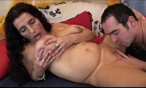 Matured long be alive bigboobs latin chick granny getting sextoy and be thrilled by