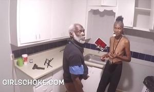 Dope sponger granddad is back getting his Black men's huge cocks sucks