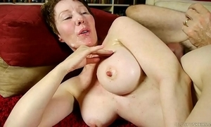 Dirty elderly spunker enjoys a indestructible shafting and a ungainly facial ejaculation
