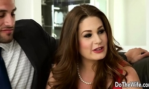 Sexy swinger allision moore is screwed unconnected with a long dicked baffle while selection couple