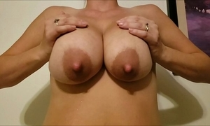 Jaxi bedtime - most mythological tits at bottom an obstacle internet! slo-mo chubby boobs milking added to bouncing!