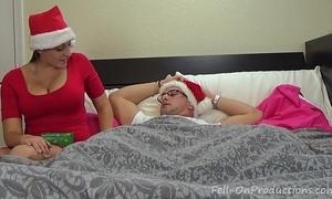 Melanie hicks all round auntie's christmas gift- milf aunt fucks nephew receives creampie