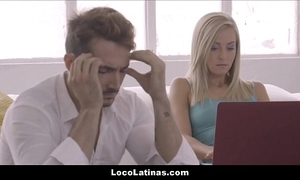 Hawt light-complexioned latin chick legal age teenager satisfactory her scrounger - spanish